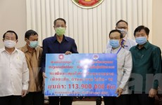 Cộng đồng người Việt chung tay chống dịch cùng Chính phủ, nhân dân Lào