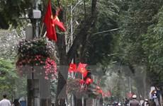 Hà Nội trang hoàng, cổ động kỷ niệm 45 năm thống nhất đất nước
