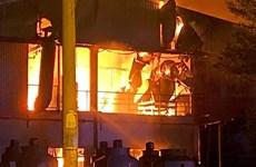KCX Tân Thuận: Cháy lớn ở công ty sản xuất thiết bị cho ôtô và máy may