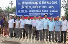 Hậu Giang khởi công xây dựng cầu nối hai huyện Vị Thủy và Phụng Hiệp