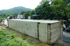Điện Biên: Lật xe container chở chanh leo tại ''điểm đen'' Nà Lơi
