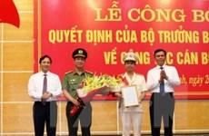 Điều động, bổ nhiệm Giám đốc Công an tỉnh Quảng Bình