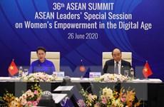 Phiên họp trực tuyến về Tăng quyền năng của phụ nữ trong kỷ nguyên số