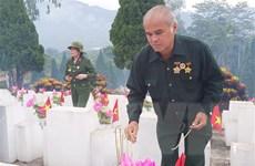 An táng hài cốt liệt sỹ tại Nghĩa trang Liệt sỹ Quốc gia Vị Xuyên