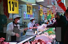Giá thịt lợn tại thị trường Trung Quốc vẫn tiếp tục đà tăng
