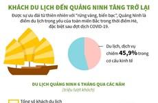 [Infographics] Khách du lịch đến Quảng Ninh tăng trở lại