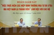 Giám sát việc thực hiện các Hiệp định FTA mà Việt Nam là thành viên