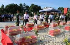 Long An truy điệu, an táng hài cốt liệt sỹ quân tình nguyện Việt Nam