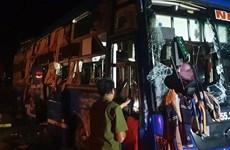 Thái Bình: Va chạm giữa xe khách và xe tải, nhiều người bị thương
