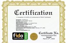 Vingroup đạt chuẩn FIDO2 thứ 2 cho sản phẩm máy chủ xác thực mạnh