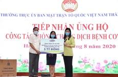 Vinamilk ủng hộ 8 tỷ đồng cho Hà Nội và 3 tỉnh miền Trung chống dịch