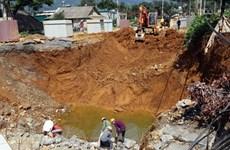 Lai Châu: 'Hố tử thần' xuất hiện trong đêm, 3 hộ dân phải sơ tán gấp