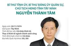 [Infographics] Bí thư Tỉnh ủy Tây Ninh Nguyễn Thành Tâm