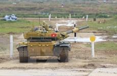 [Photo] Kíp xe tăng Việt Nam vào thi đấu bán kết Army Games 2020