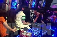 Phát hiện 20 thanh niên dương tính với ma túy trong quán karaoke