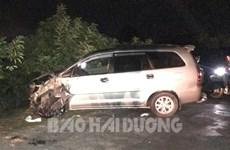 Hải Dương: Ôtô đâm 4 xe máy trong đêm, nhiều người bị thương nặng