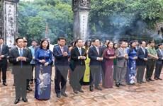Lãnh đạo thành phố Hà Nội dâng hương tại Cố đô Hoa Lư và Đền Đô