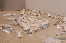 Trần thạch cao bất ngờ sập tại sảnh Bệnh viện Đa khoa vùng Tây Nguyên