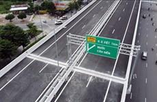 Hà Nội tổ chức phân luồng giao thông qua cầu cạn Vành đai 3 trên cao