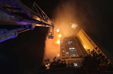 Cháy lớn tại chung cư Hàn Quốc, ít nhất 80 người bị thương