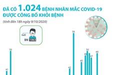 Việt Nam đã có 1.024 bệnh nhân mắc COVID-19 được công bố khỏi bệnh