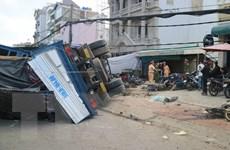 Kinh hoàng xe tải 'không người lái' gây tai nạn liên hoàn