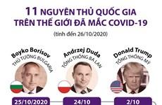 11 nguyên thủ và thủ tướng các nước đã mắc COVID-19