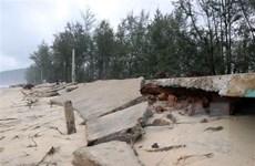 Thừa Thiên-Huế: Bờ biển sạt lở nghiêm trọng, lấn sâu vào khu dân cư