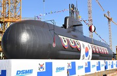 Hàn Quốc hạ thủy tàu ngầm tự thiết kế trọng tải 3.000 tấn thứ hai