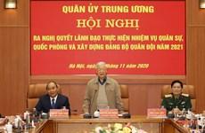 Quân ủy Trung ương thông qua phương hướng nhiệm vụ năm 2021