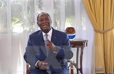 Tổng thống Côte d'Ivoire Ouattara tuyên thệ nhậm chức nhiệm kỳ thứ 3