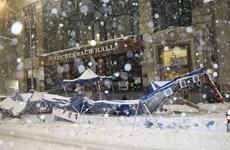 Hình ảnh thành phố New York chìm trong tuyết trắng đầu mùa