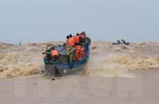 Huy động tàu thuyền tìm kiếm hai người bị sóng đánh rơi xuống biển