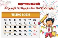 Học sinh Hà Nội được nghỉ Tết Tân Sửu những ngày nào?