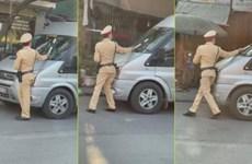 Hà Nội: Phạt tài xế cố tình nhấn ga đẩy chiến sỹ Cảnh sát giao thông