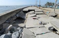 Ninh Thuận: Sóng cao 4m đánh hỏng tuyến đê biển Đông Hải-Phú Thọ
