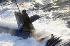 Tàu ngầm Nhật Bản chịu nhiều hư hại sau vụ va chạm với tàu hàng