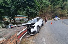 Ôtô mất lái trên đèo Bảo Lộc, một người chết, ba người bị thương nặng