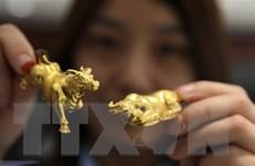 Giá vàng trên thị trường châu Á đi lên sau phiên giảm mạnh