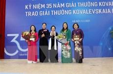 Vinh danh tập thể và cá nhân đoạt Giải thưởng Kovalevskaia 2020