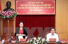 Chủ tịch Quốc hội làm việc với Ban chỉ đạo công tác bầu cử Kiên Giang