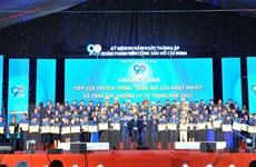 Tôn vinh 98 cán bộ Đoàn tiêu biểu nhận Giải thưởng Lý Tự Trọng 2021