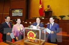 Hình ảnh đại biểu Quốc hội bầu một số Phó Chủ tịch Quốc hội