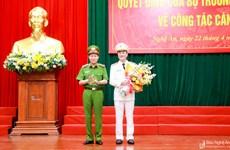 Điều động Giám đốc Công an tỉnh Bắc Ninh làm Giám đốc Công an Nghệ An
