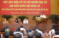 Cử tri Hà Nội đánh giá cao chương trình hành động của ứng cử viên