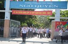Dịch COVID-19: Đà Nẵng lùi thi tuyển vào lớp 10 đến giữa tháng 6