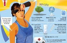 [Infographics] Sốc nhiệt do nắng nóng và những điều cần biết