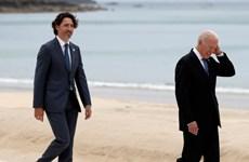 Lãnh đạo Canada và Mỹ có cuộc gặp mặt trực tiếp lần đầu tiên