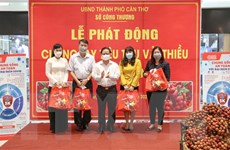 Thành phố Cần Thơ hỗ trợ tiêu thụ 230 tấn vải thiều Bắc Giang