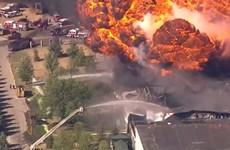 Mỹ: Hỏa hoạn nghiêm trọng tại nhà máy hóa chất, khẩn trương sơ tán dân